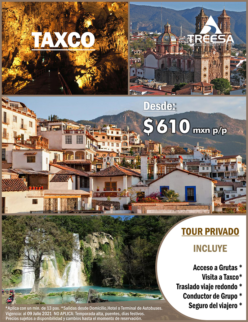 Tour Taxco y Cacahuamilpa